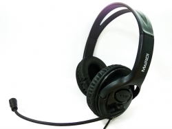 Focus style binaural USB headset with call controls