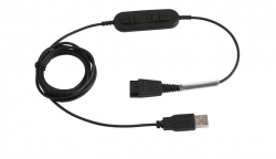 USB adapter with Plantronics QD and call controls