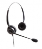 Binaural noise canceling headset with GN Netcom QD